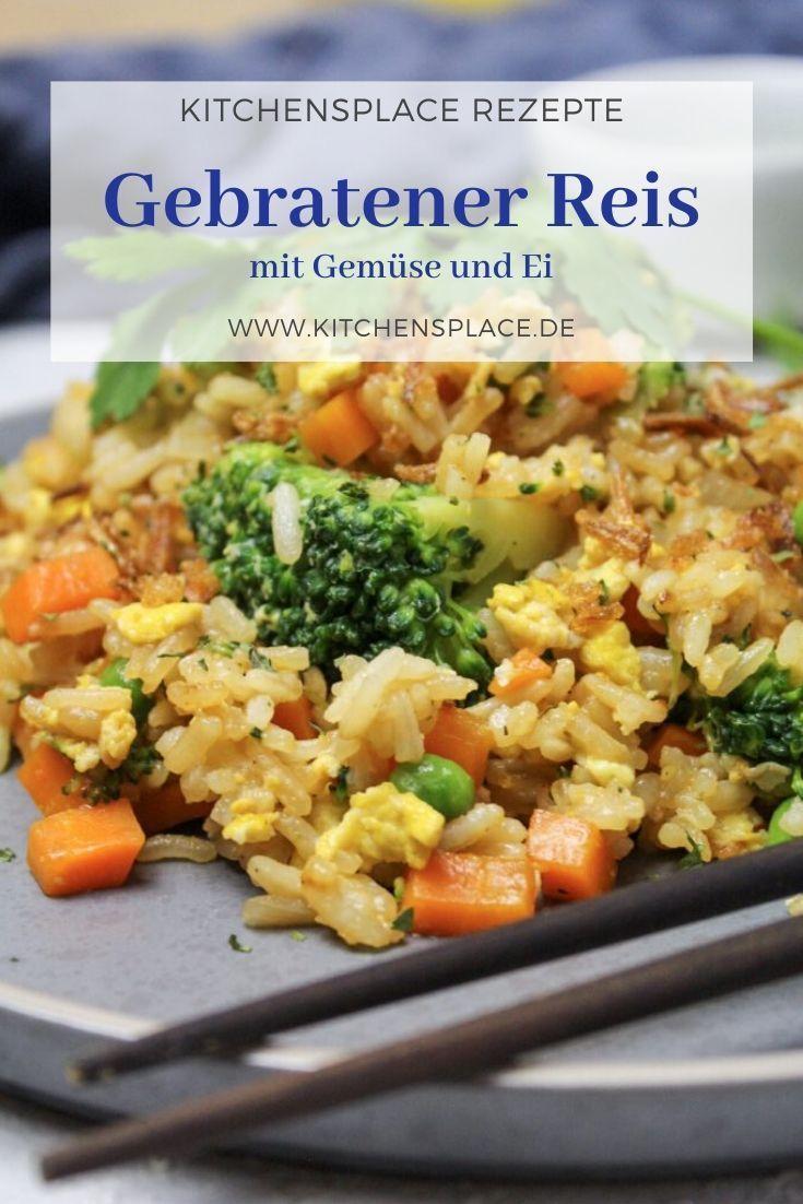 Gebratener Reis mit Gemüse und Ei – kitchensplace