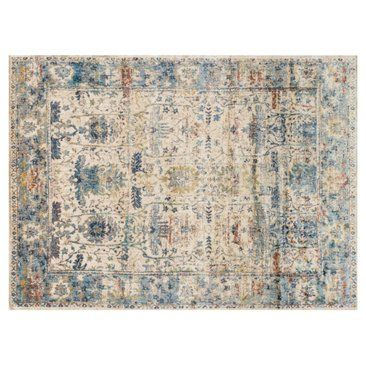 Check out this item at One Kings Lane! Hester Rug, Sand/Light Blue