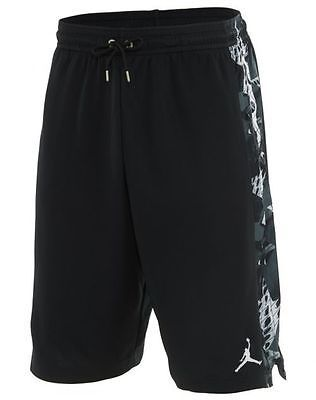 1f8617c16bd2 Nike Air Jordan VI 6 Retro Short Mens 687802-010 Black Basketball Shorts  Size L