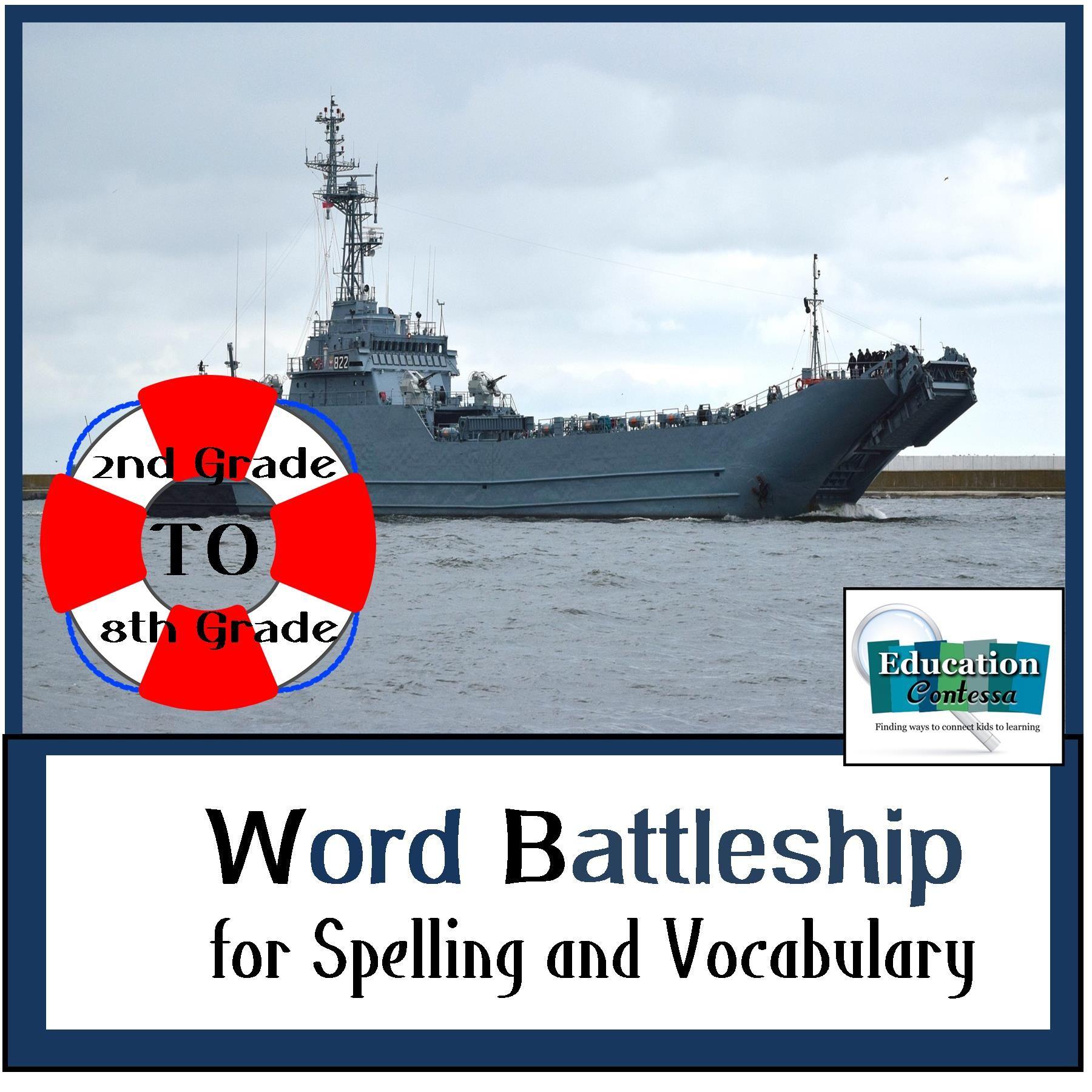 BATTLESHIP SPELLING for WORD STUDY and VOCABULARY | Battleship, Word ...