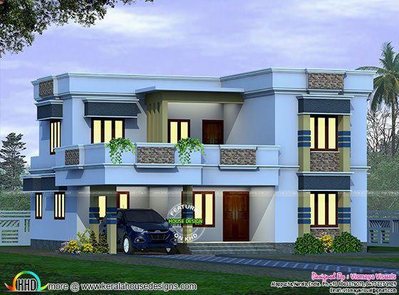 2045 Square Feet Flat Roof Home Kerala Home Design Modern Roofing Kerala House Design Flat Roof House