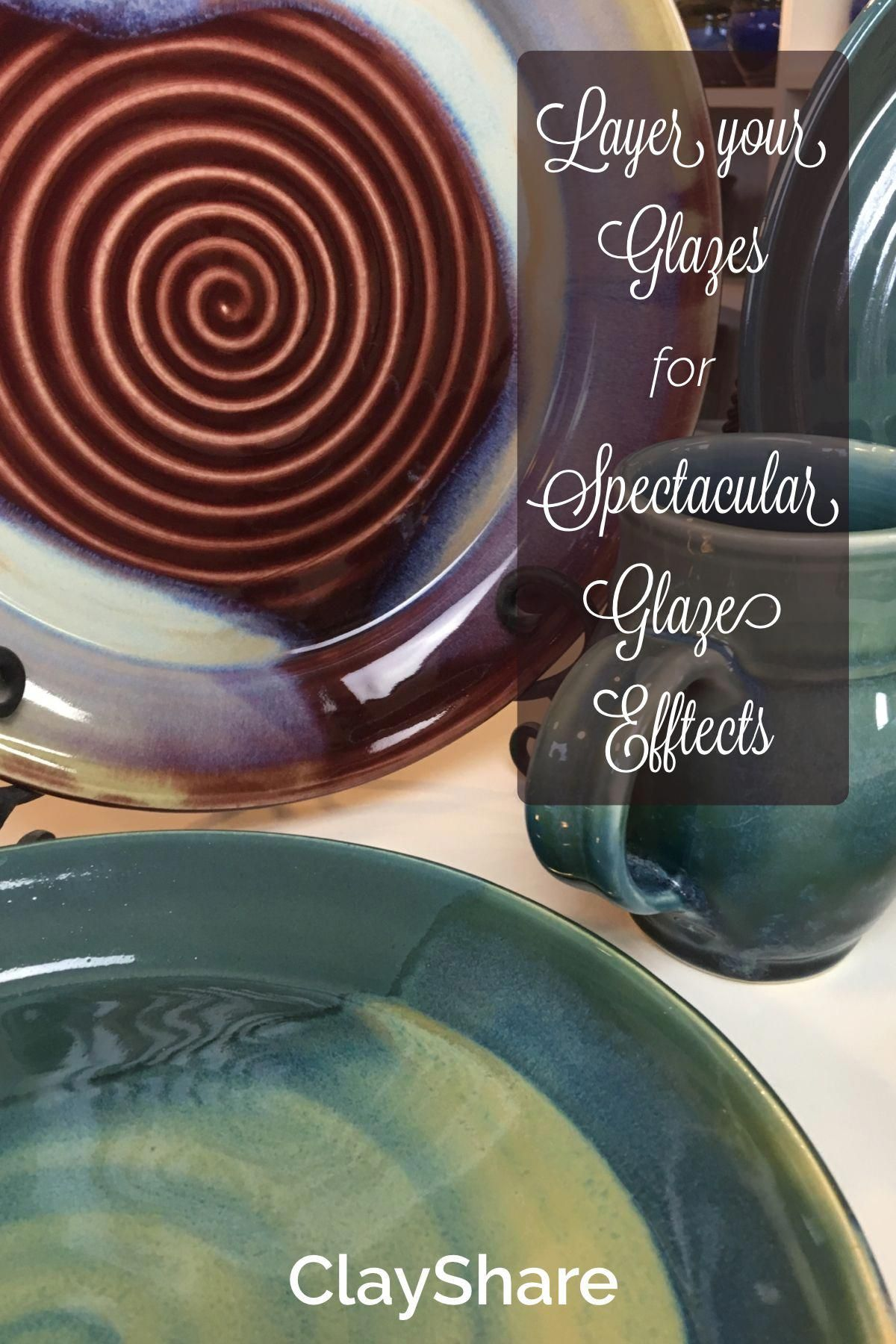 Learn how to layer your glazes to achieve results that will make your pottery sing! Follow ClayShare for more pottery projects, tutorials, tips and techniques. #makingpottery #potteryglazes