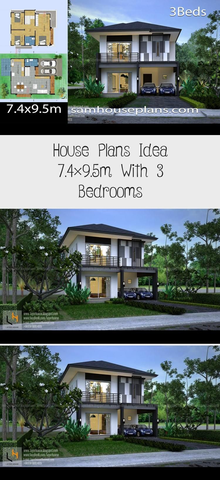 House Plans Idea 7 4x9 5m With 3 Bedrooms Sam House Plans Modernhouseplans2018 Modernhouseplansrectangle In 2020 House Plans House Plans Australia Pool House Plans