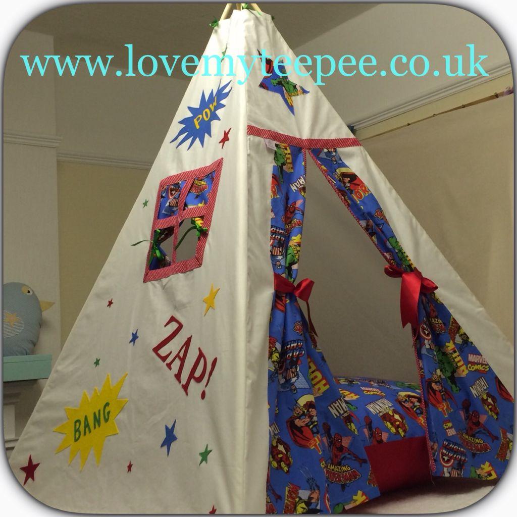 Love my teepee uku0027s leading handmade bespoke and personalised childrens teepee tents. & SUPERHERO TEEPEE AND FLOOR CUSHION Iron Man Hulk Thor Captain ...