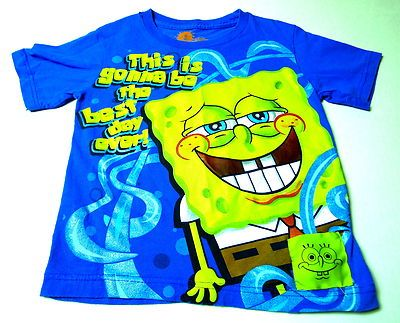 Sponge Bob Square Pants by  Nickelodeon! Push the little square and HE TALKS!  size 4/5  $0.99 Back to School Auction!  BlingBlinky.com