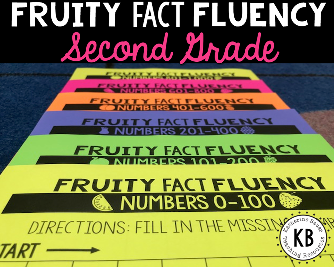 Fruity Fact Fluency Second Grade Year Long Program With