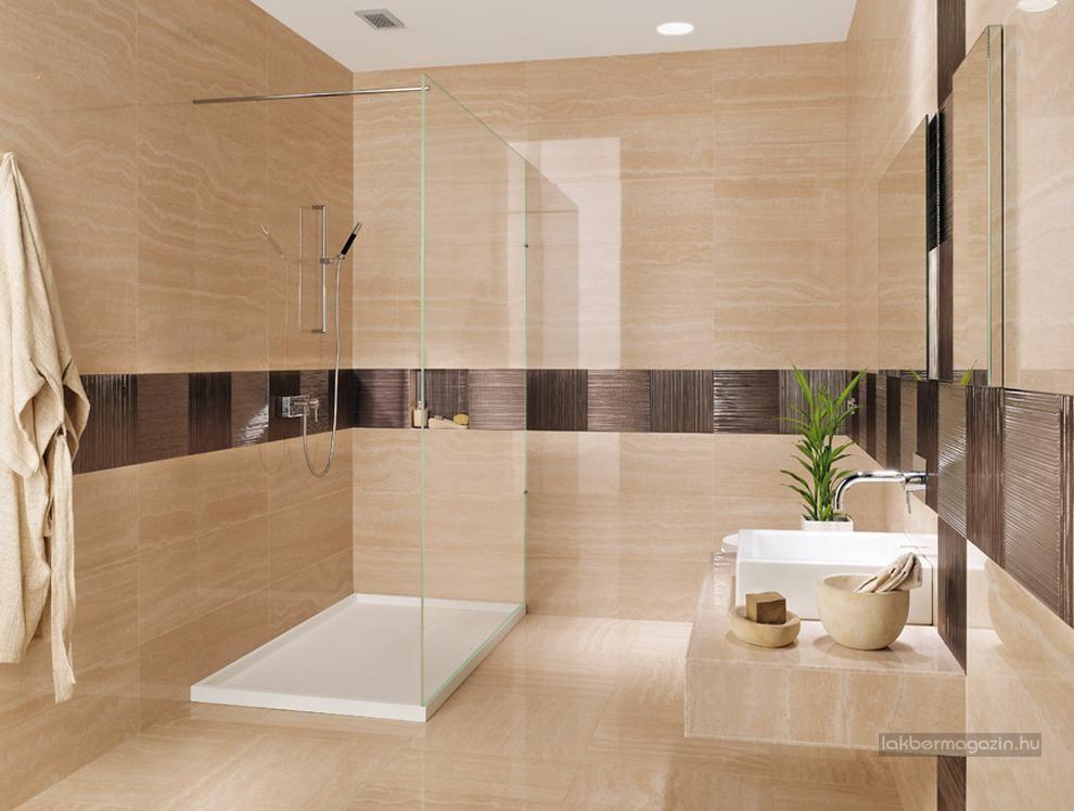 Szép, modern fürdőszobák - burkolat ötletek 1. rész, természetes ...