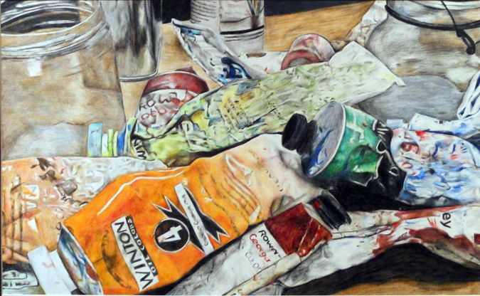 "Adeline Jackson, Peru High School, ""Color My World,"" colored pencil drawing. Best of Show 2010"
