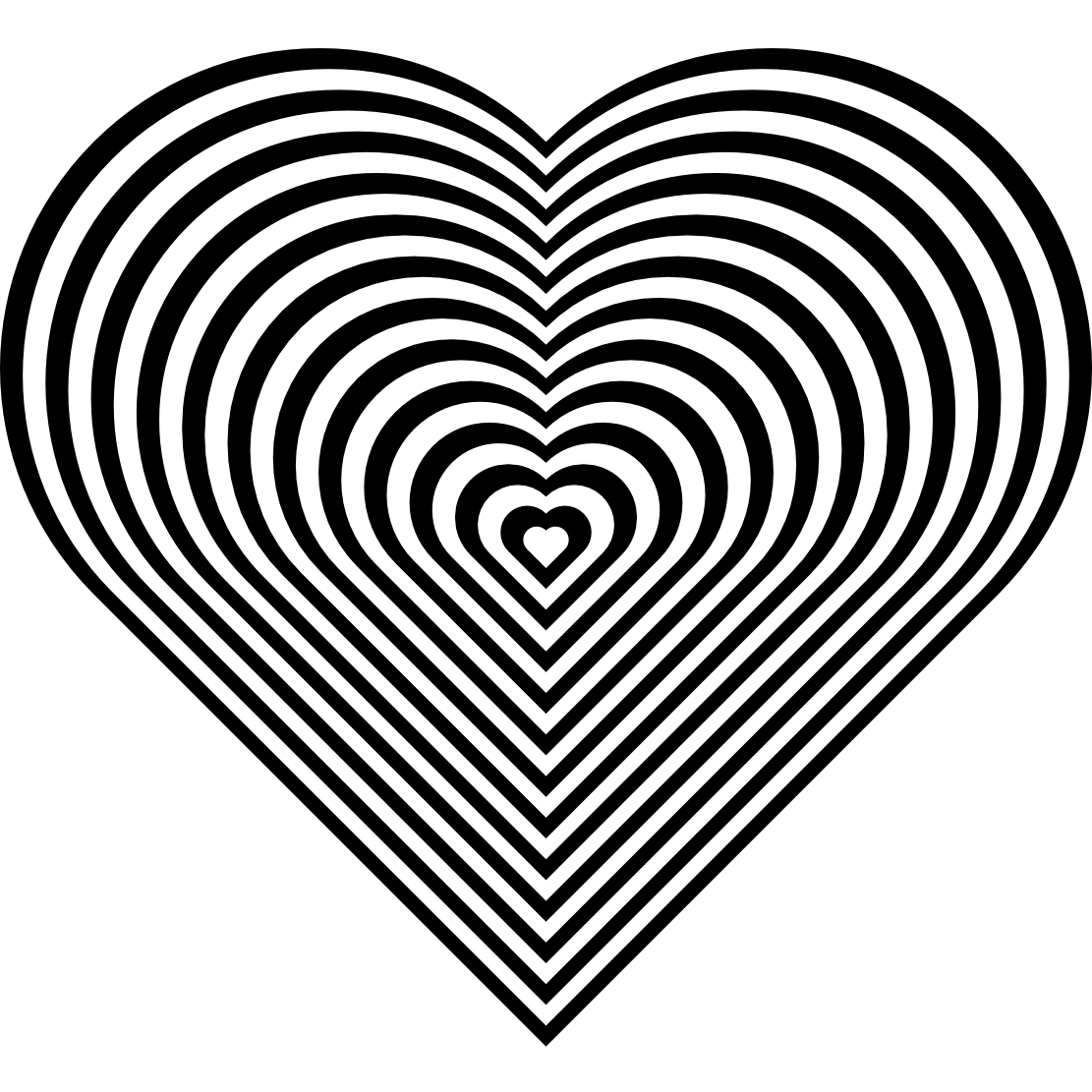 stripe zebra heart coloring book colouring sheet page ...