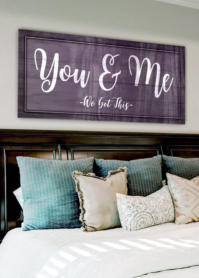 Couples Wall Art You & Me We Got This (Wood Frame Ready