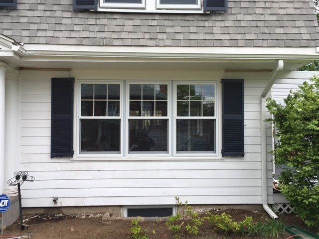 Exterior View Of Some Of The 29 Absolutely Beautiful White Wood Double Hung Windows From Harve Wood Double Hung Windows Double Hung Windows Remodeling Projects