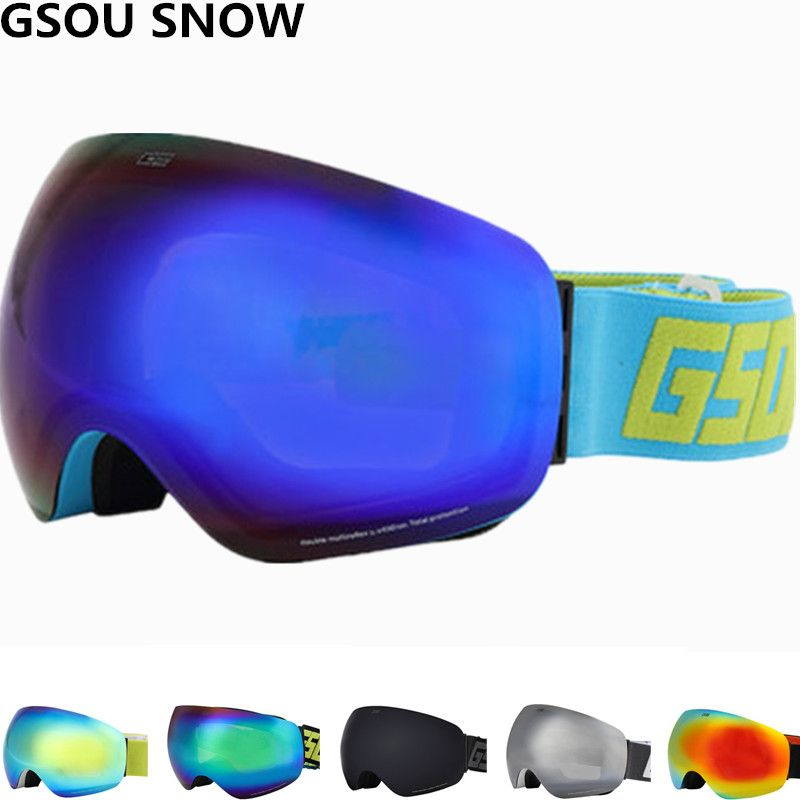 4678925c7fd GSOU SNOW Professional Winter snowboard ski Goggles Double lens Anti ...