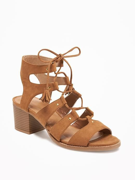 5ff58de3a7611 This is called a Sueded Gladiator Heeled Sandal for women from Old navy. A  lovely