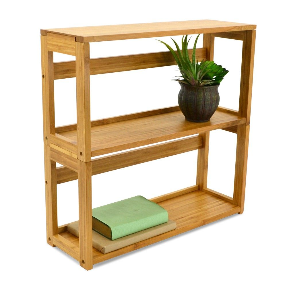 Small Bamboo Stacking Bookshelf Available From Storables