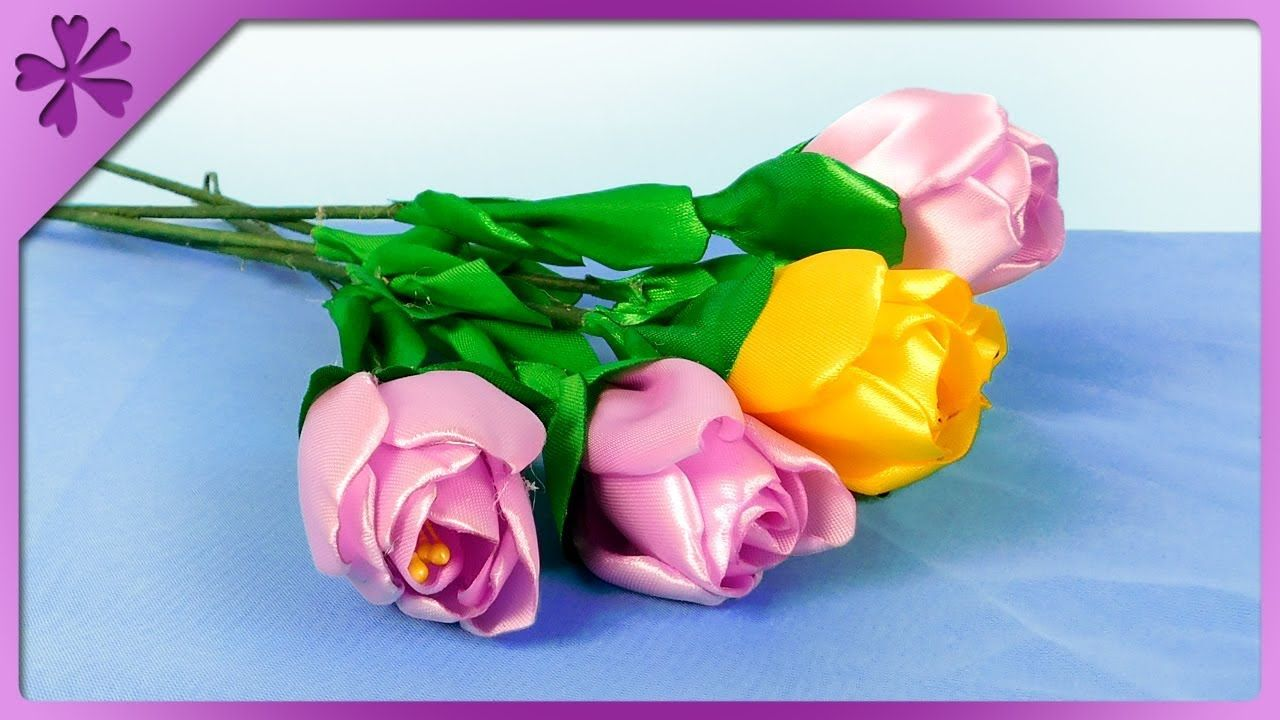 Pin On Ribbon Flowers