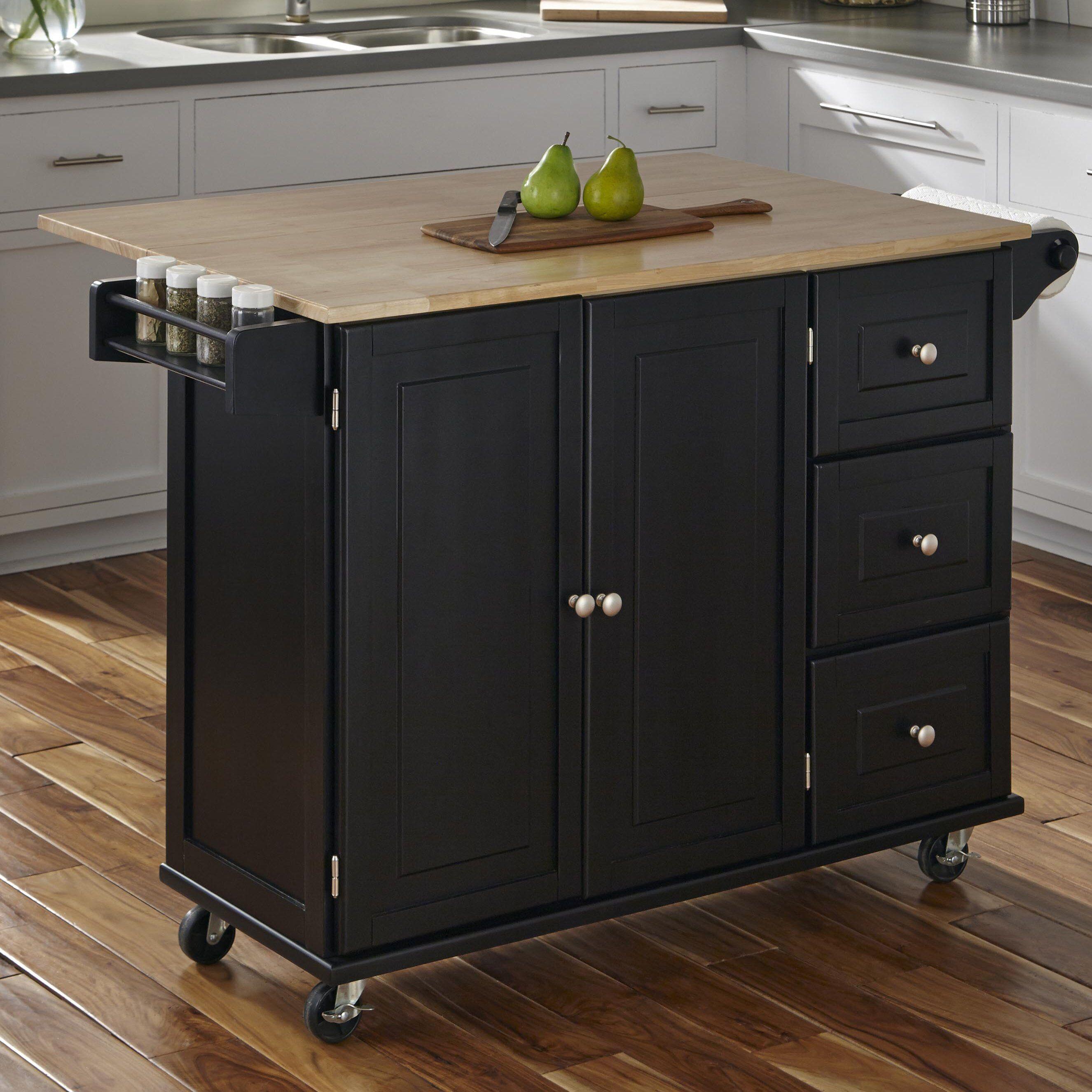 Kuhnhenn Kitchen Cart With Wood Top Reviews Birch Lane Kitchen Cart Kitchen Remodel Kitchen Countertops