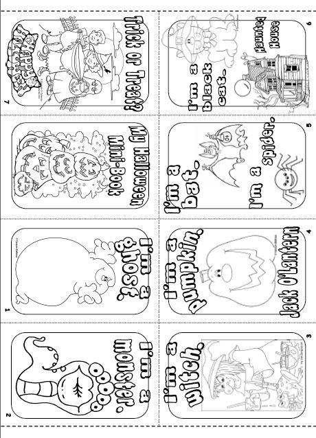 Teacher's Love Web Site Fun For Halloween Minibook  School