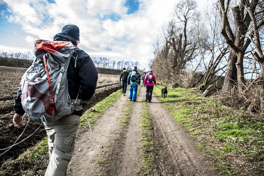 Hiking in the nature an a sunny day - Stock Photo , #spon, #sunny, #nature, #Hiking, #Photo #AD