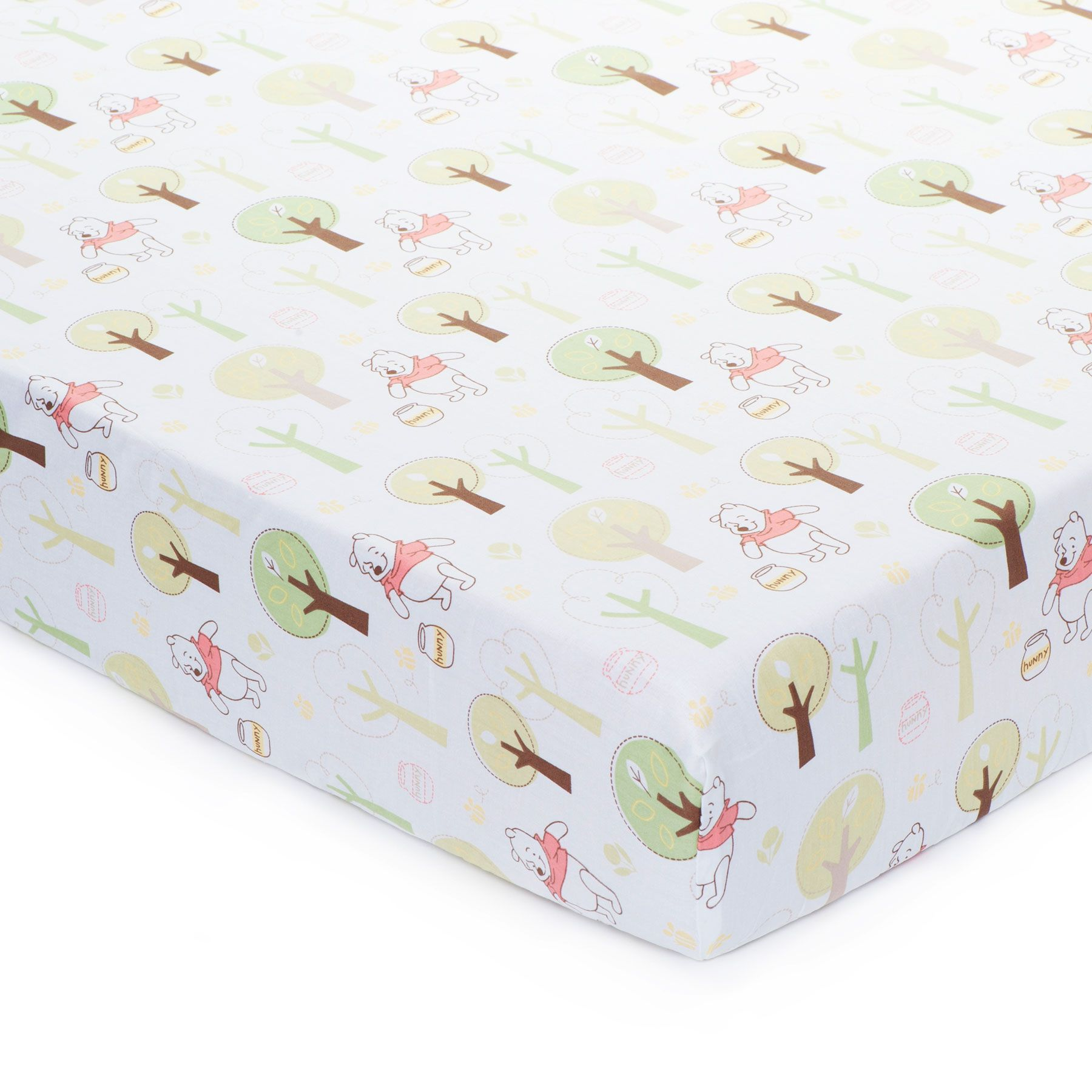 pooh and friends fitted crib sheet  nursery  pinterest  crib  - pooh and friends fitted crib sheet
