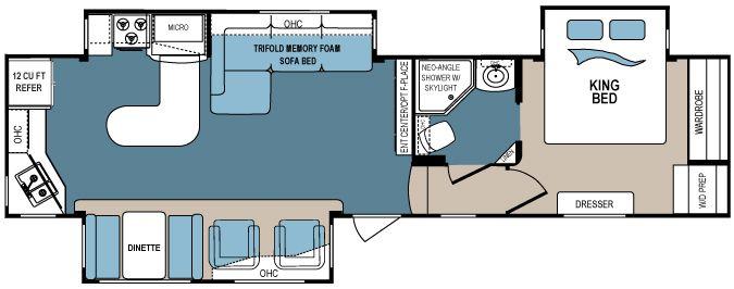 337fls Jpg 830 375 Keystone Outback Keystone Rv Floor Plans