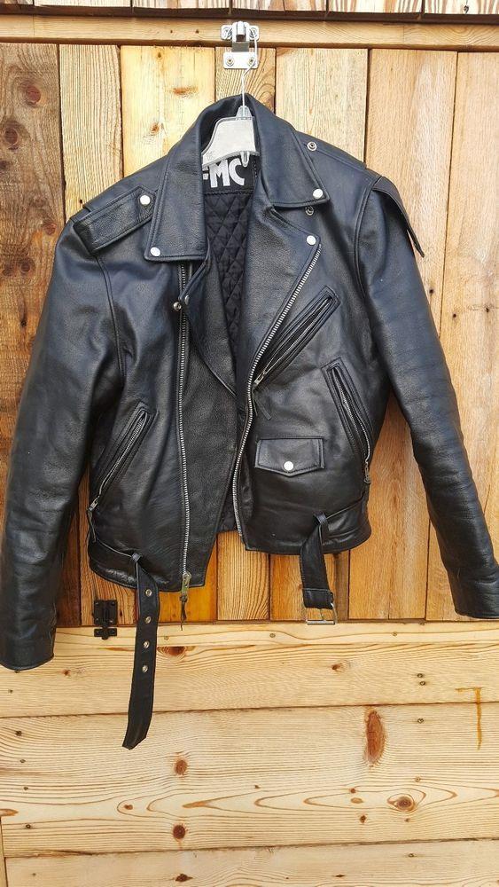 Fmc Vintage Men S Leather Motorcycle Jacket Size 40 Leather Motorcycle Jacket Vintage Men Leather Men