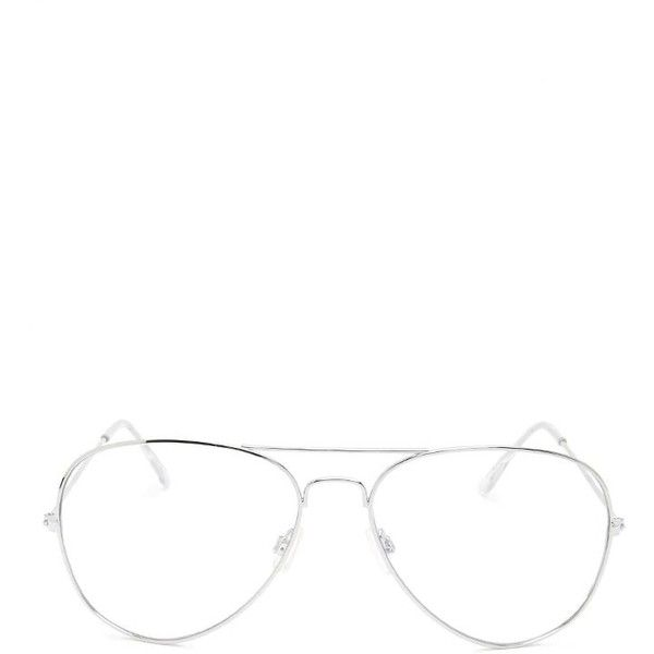 92ed94df452 Forever21 Clear Aviator Readers ( 5.90) ❤ liked on Polyvore featuring  accessories
