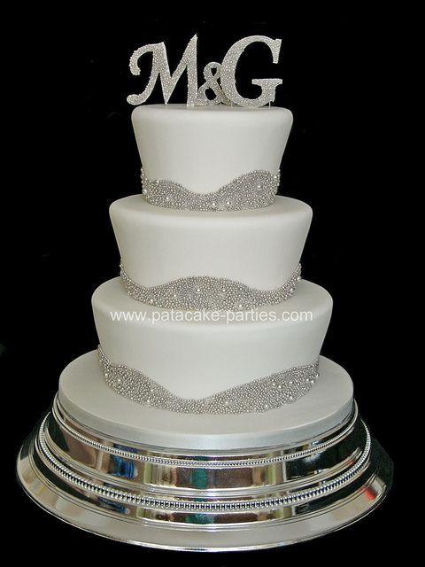 Bling Wedding Cake Hochzeitstorten Mit Glitzer Und Perlen