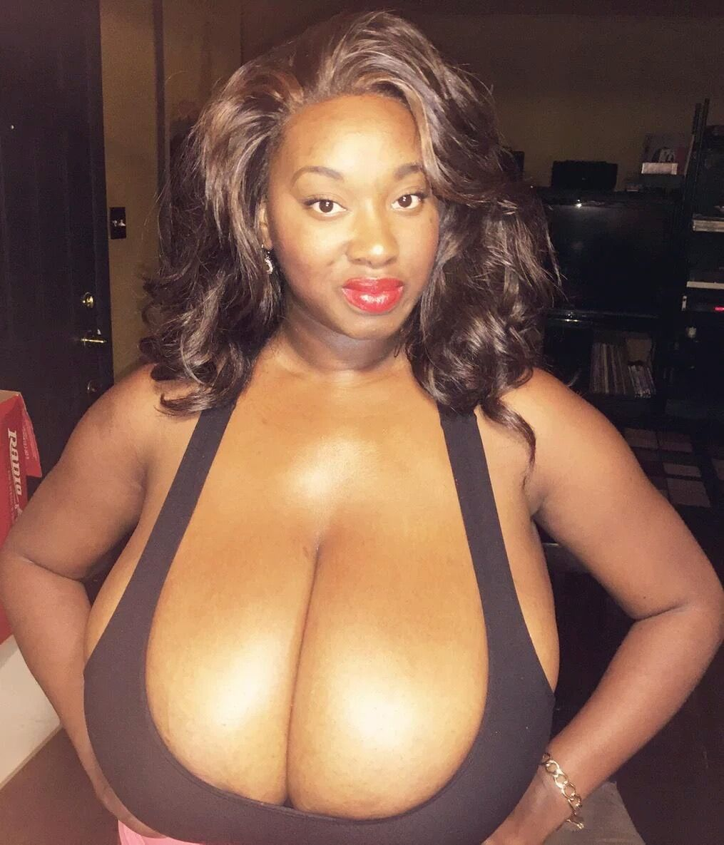 Large black breasts