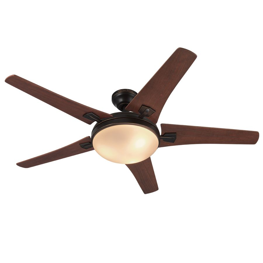 Harbor Breeze Gracy Creek 48 In Oil Rubbed Bronze Indoor Ceiling Fan With Light Kit And Remote 5 Blade Lowes Com Ceiling Fan Ceiling Fan With Light Oil Rubbed Bronze