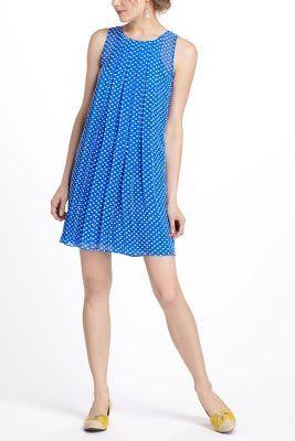 Flocked Cobalt Dress