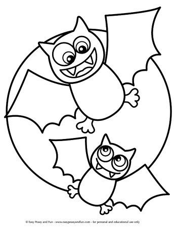 Halloween Coloring Pages - Easy Peasy and Fun #halloweencoloringpages