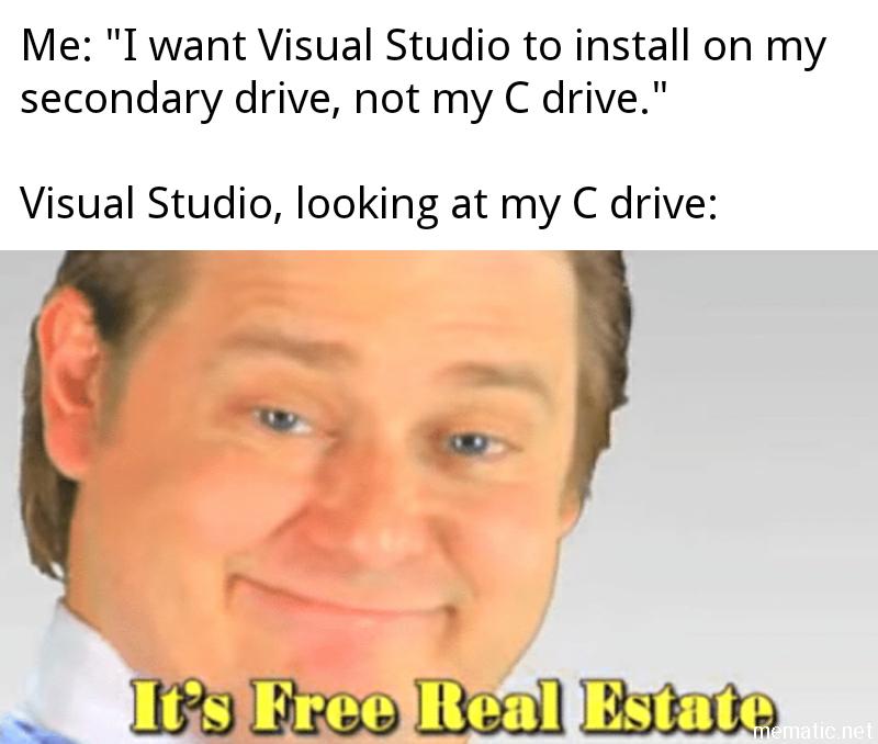 Installed Vs On My New Desktop The Other Day Programming Coding Software Developers Webdev Sysadmin Programmers Cs R Memes Dankest Memes Memes