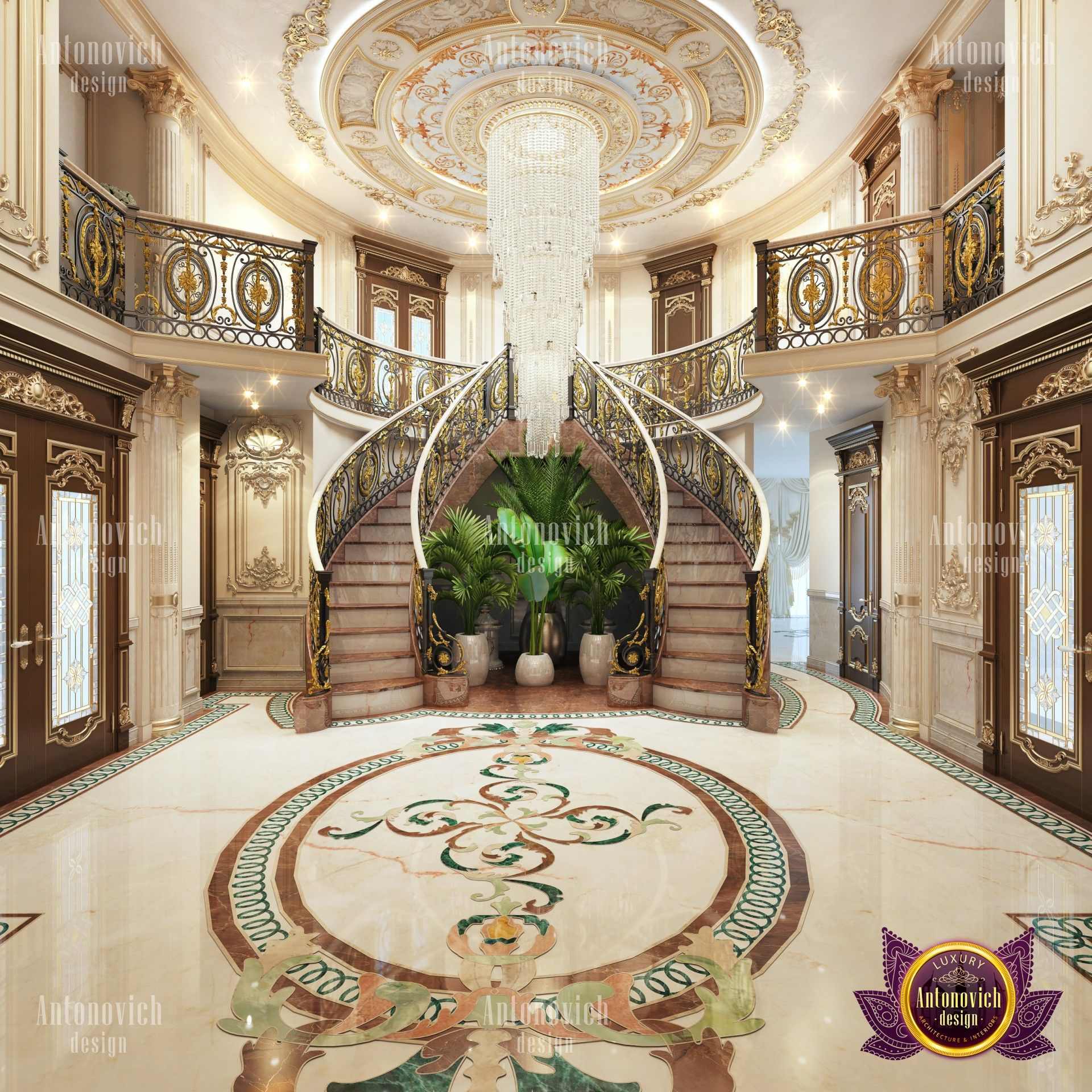 Royal Villa Interior Design In Kuwait Luxury House Interior Design Foyer Design Luxury Decor