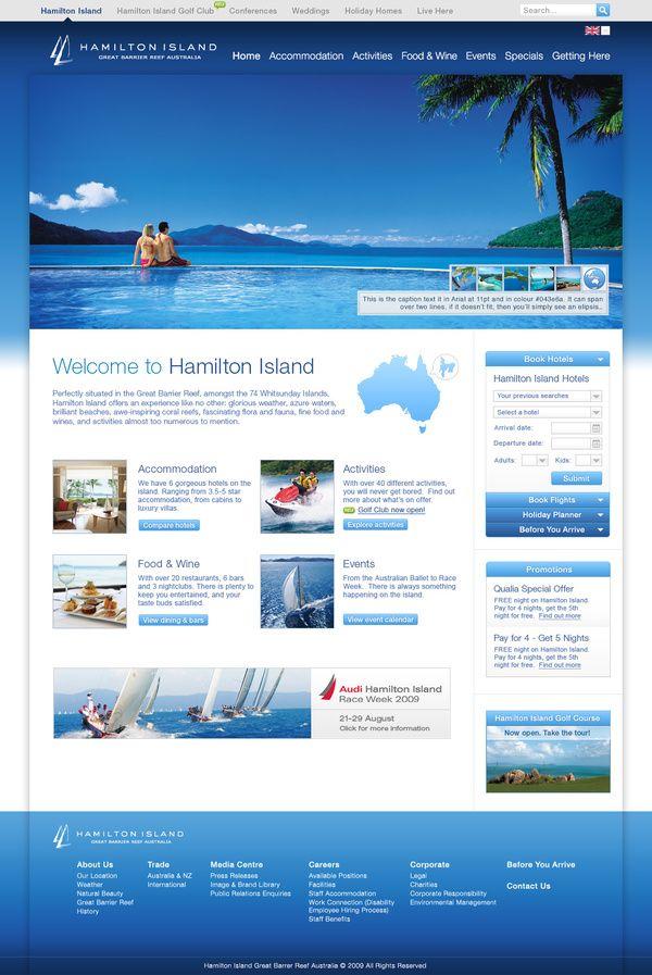 Http Www Hamiltonisland Com Au Web Design Web Design Inspiration Website Design