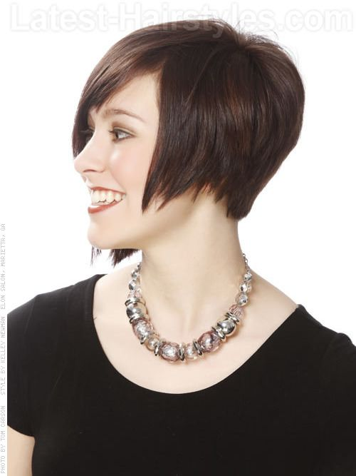 Balancing Act Asymmetrical Hairstyle For Oval Faces Profile View Oval Face Hairstyles Hair Styles Long Face Hairstyles