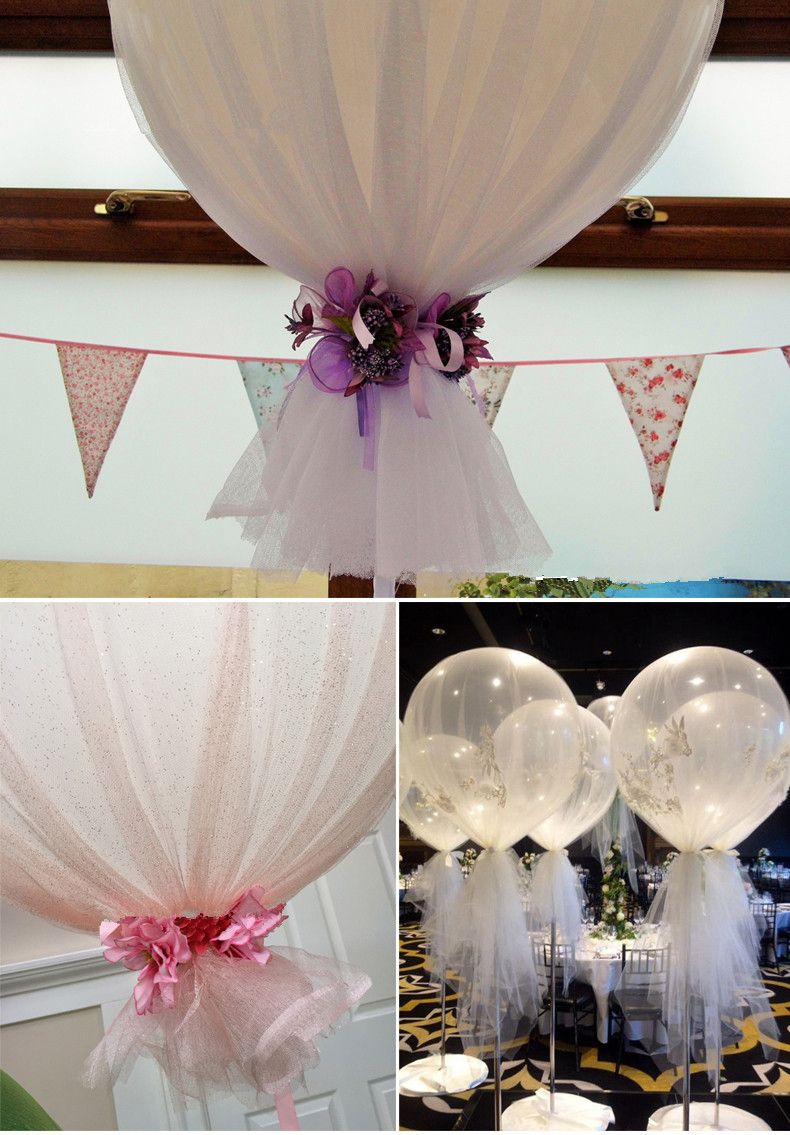 White tulle for 24 36 inch balloon hot air balloons centerpieces white tulle for 24 36 inch balloon hot air balloons centerpieces birthday or wedding decoration wholesale balloons on salelatex balloons foil junglespirit Images