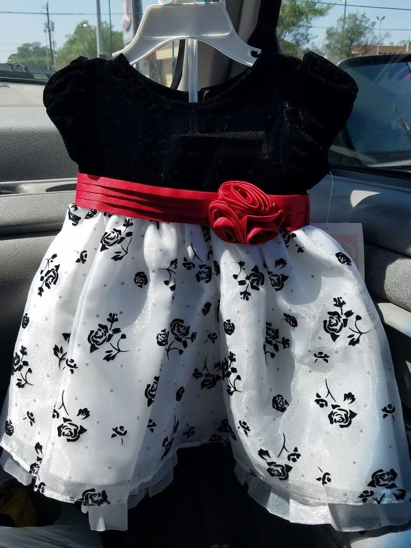 Nice Great Bonnie Baby Macy S Girl Fancy Dress Black Velvet With