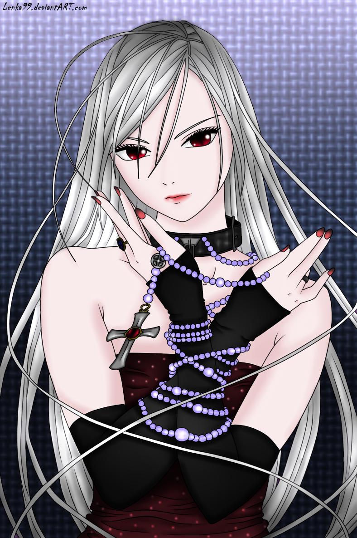 Moka Akashiya Color By Lenka99 On Deviantart Rosario Vampire Characters Rosario Vampire Rosario Vampire Anime