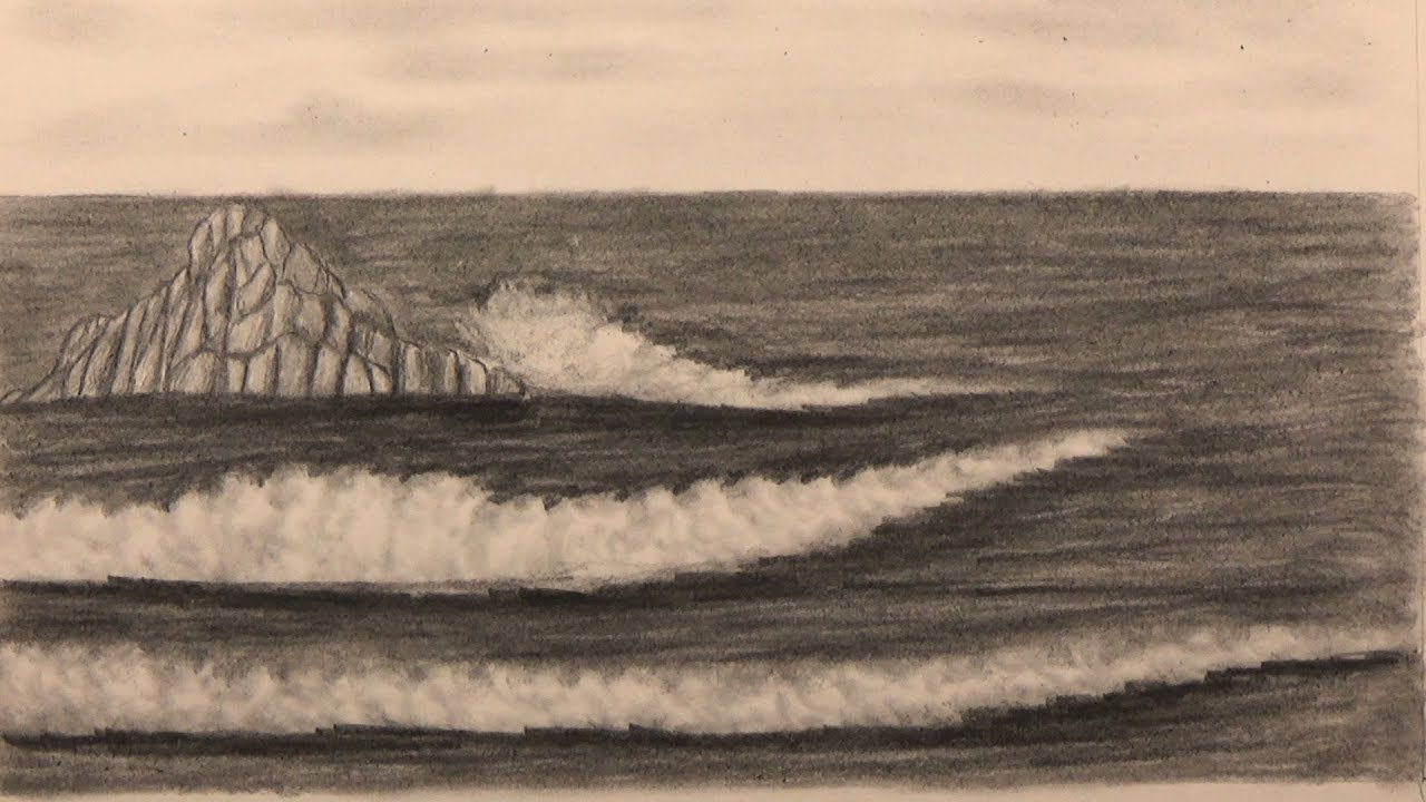 Learn To Draw The Sea And Waves In Pencil Drawings Abstract Artwork Learn To Draw