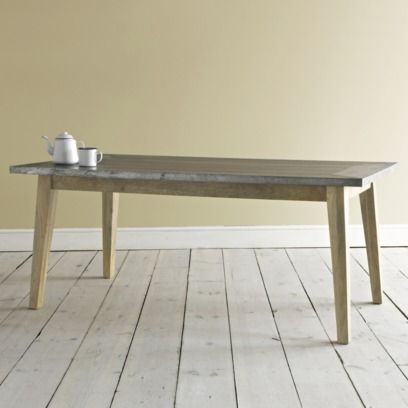 Zinc Kitchen Table Making A Island From Cabinets With Geronimo And Cafe Au Lait Chairs Furniture Comfy Sofas Beautiful Beds Laid Back For The Home Loaf Tableindustrial