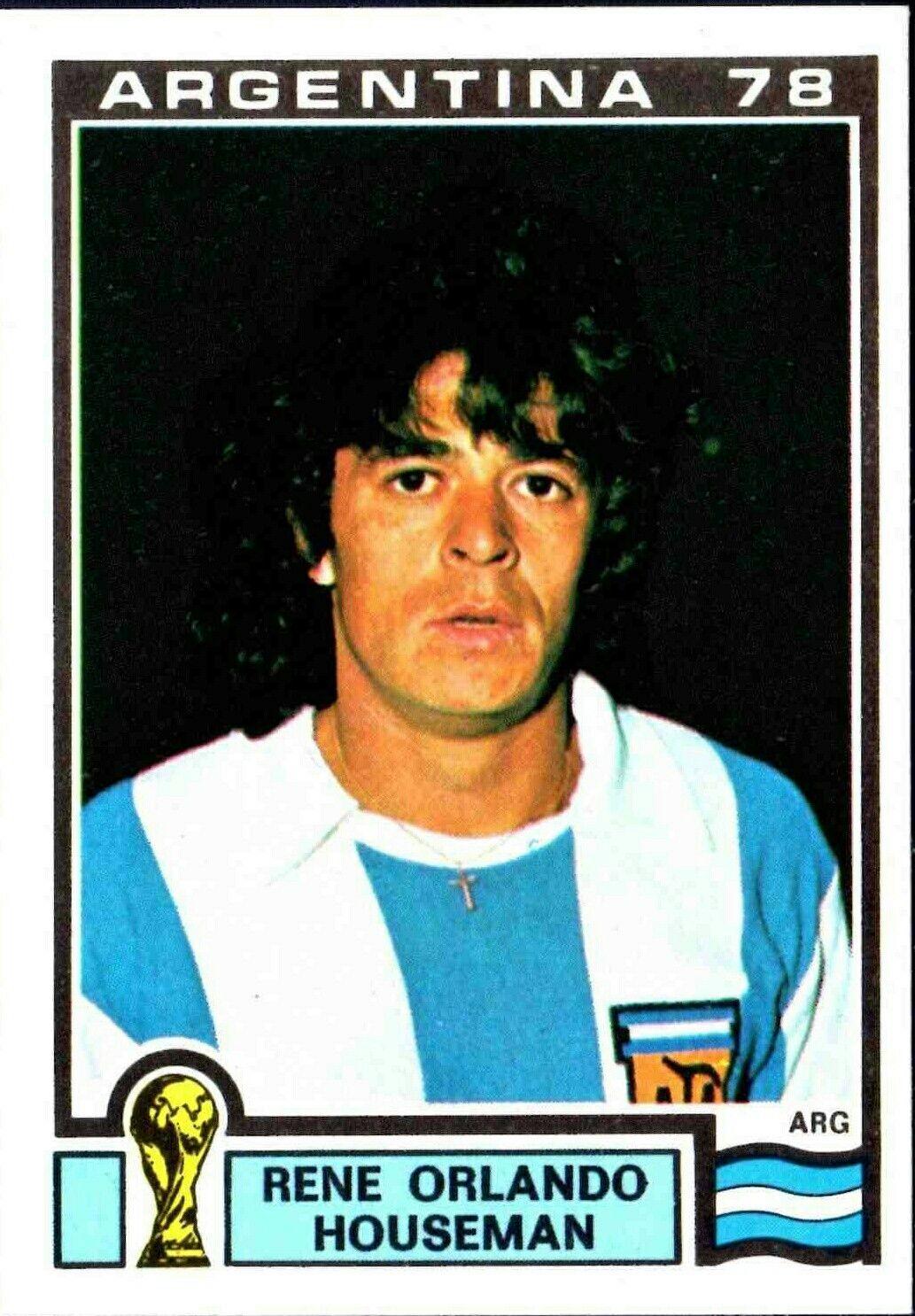 Rene Houseman of Argentina. 1978 World Cup Finals card.