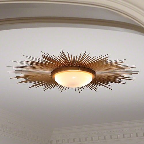 Sunburst Flushmount Light Fixture Low Ceiling Lighting Flush Ceiling Lights Flush Mount Ceiling Lights