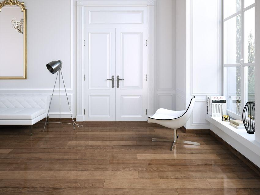 Pavimento imitación madera iguazu nogal brillo 1ª 20x114 ...