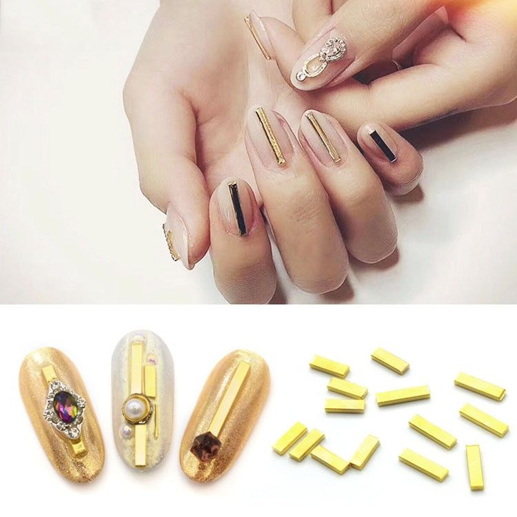 3d nail art stickers metal stick decoration for nail polish gel ...
