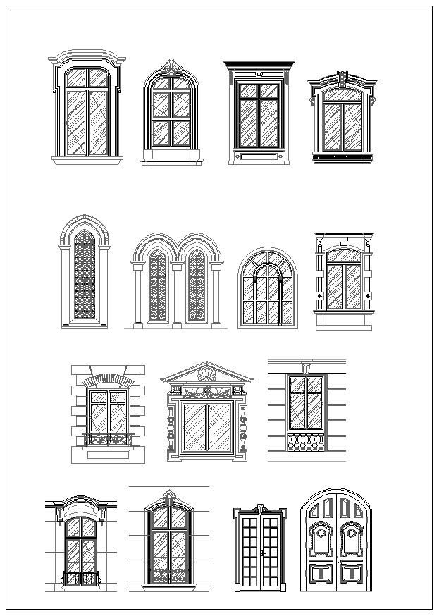 Door And Window Design Architecture Ornamental Parts Decorative