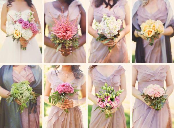 Sträuße Brautjungfern