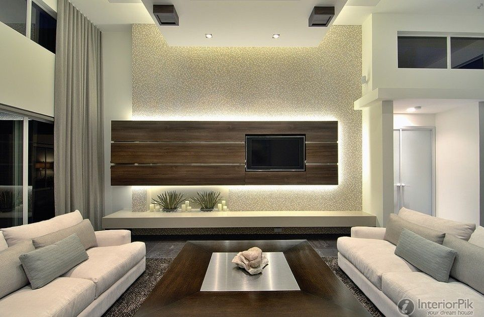 Modern Minimalist Living Room TV Background Wall Design Effect Chart  Appreciation. Find Thousands Of Interior Design Ideas For Your Home With  The Latest ...