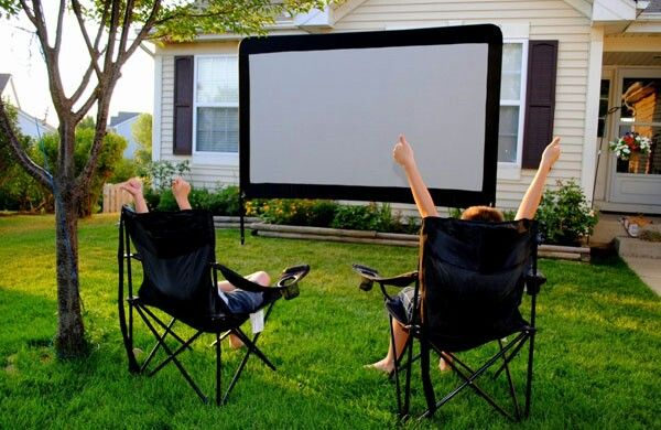 Backyard Theater System this backyard theatre system comes with a massive 120″ portable