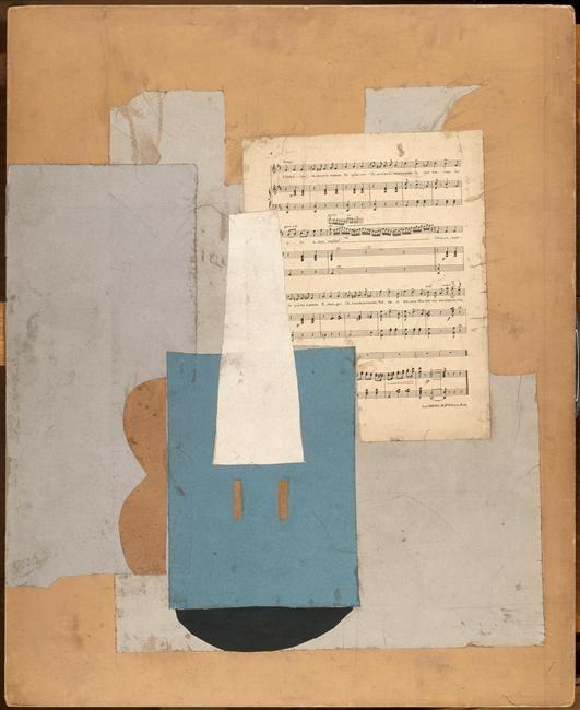 Pablo Picasso - Violon et feuille de musique, Automne 1912