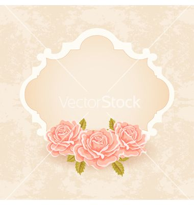 Vintage floral background greeting card template vector 1427596 - greeting card template